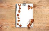 Notepad for recipes — Stock Photo
