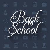 回到学校平面向量概念设计 — 图库矢量图片