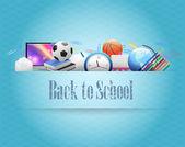 Back to School Vector Design — Stock Vector