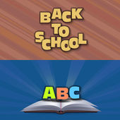 Back to School, Book Vector Design — Stock Vector