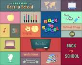 Back to School Banner Vector Design — Stock Vector