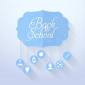 Back to School Concept Flat Vector Design — Stock Vector
