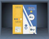 Business Flyer, Brochure or Catalog Cover Vector Design Template — Stock Vector
