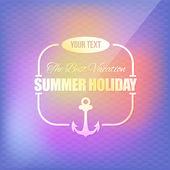 Holiday, Summer Travel, Tourism Badge on Blurred Background — Stockvector