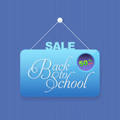 Welcome Back to School background, Vector Hanging Sale Tag Illustration — Stock Vector