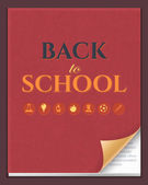 Welcome Back to School background, Vector Book Illustration — Stock Vector