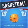 Basketball Event Poster, Flyer, Banner Template Vector Background — Stock Vector #52604893