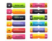Web Buttons Collection - Web Menu — Stock Vector