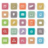 Flat Web Icons Set Collections — Stock Vector