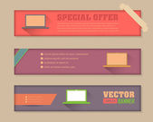 Web Banner Business Concept Template Vector Collection — Stock Vector