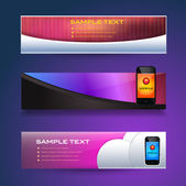 Web Banner Template Vector Collection — Stock Vector