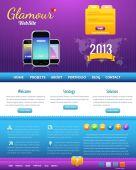 Website Design Vector Elements — Stock Vector