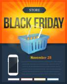 Black Friday Sale Poster, Flyer — Stock Vector