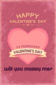 Retro Style Valentines Day — Stock Vector