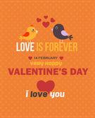 Valentine's Day Flyer Poster Vector Design Template — Stock Vector
