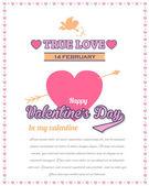Valentines Day Celebration Card Background — Stock Vector