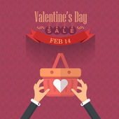 Valentine's Day Advertising — Stock Vector