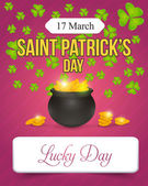 Happy Saint Patricks Day - Celebration Background Ad Template — Stock Vector