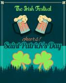 Happy Saint Patricks Day - Party, Celebration Background Template — Stock Vector