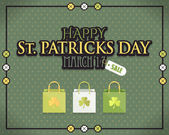 St. Patrick's Day Advertising and Sale Website Banner — Stock Vector