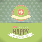 St. Patrick's Day Retro Green Background — Stock Vector