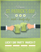 Happy Saint Patricks Day - Party, Celebration Poster, Flyer Background Template — Stock Vector