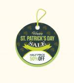 Happy St. Patricks Day Price Concept Tag Objects, Banner, Label Object Vector Design — Stock Vector