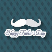 Happy Father's Day Vector Design. Announcement and Celebration Message Poster, Flyer — Stock Vector