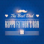 Stylish Text Happy Father's Day Vector Design — Stock Vector
