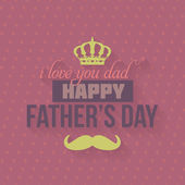 Happy Father's Day Vector Design — Stock Vector