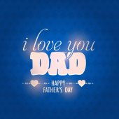 Stylish Text Happy Father's Day Vector Designyer — Stock Vector