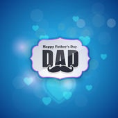 Abstract Background Happy Father's Day Vector Design. Announcement and Celebration Message Poster, Flyer — Stock Vector