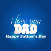 Stylish Text Happy Father's Day Vector Design. Announcement and Celebration Message Poster, Flyer — Stock Vector