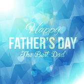Happy Father's Day Multicolored Low Poly Background. Announcement and Celebration Message Poster, Flyer Template — Stock Vector