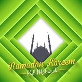 Ramadan Kareem - Islamic Holy Nights Theme Design — Stock Vector