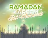Ramadan Kareem Mosque — Stock Vector