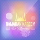 Ramadan Kareem and Mosque — Stock Vector