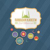 Ramadan Kareem - Islamic Holy Nights Theme Vector Design — Stock Vector