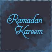 Ramadan Kareem Typographic Text Long Shadow Effect Vector Design — Stock Vector