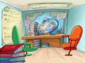 School office. Geography cabinet..Travel Agents. — Stock Photo