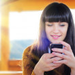 Woman texting — Stock Photo #57593707