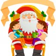 Santa Clause and kids — Stock Vector #51925397
