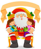 Santa Clause and kids — Stock Vector