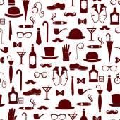 Vintage men's items pattern — Stock Vector