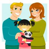 Adoptive family — Stock Vector