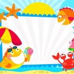 Summer fish frame — Stock Vector #69094703