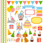 Birthday design elements — Stock Vector
