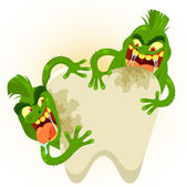 Cartoon tooth germs — Stock Vector