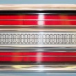 Rear light of car with symmetrical pattern. — Stock Photo #57766769