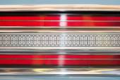 Rear light of car with symmetrical pattern. — Stock Photo